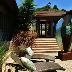 Gallery Entrance and Patio